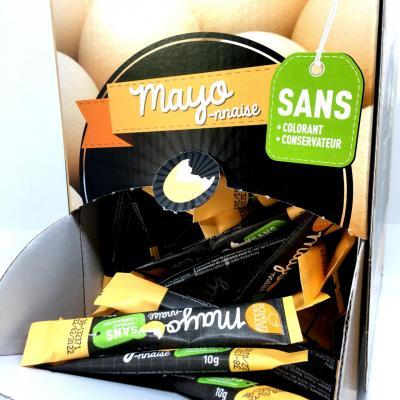 Mayonnaise en stick 10 g x 100 boite service saveurs et sauces sans colorant sans conservateur