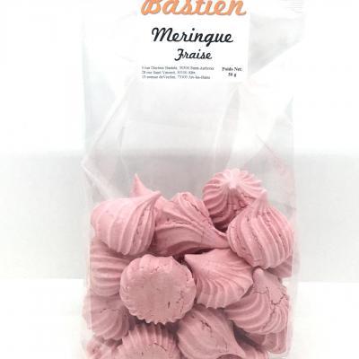 Meringues a la fraise 50g les macarons de bastien