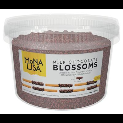 Micro copeaux en chocolat au lait 3 x 9 mm 1 kg blossom