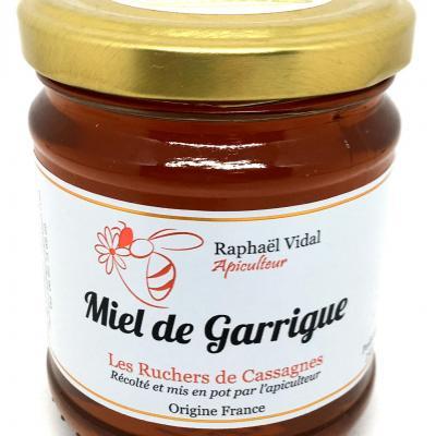 Miel de garrigues des cevennes 250g les escargots et ruchers de cassagnes