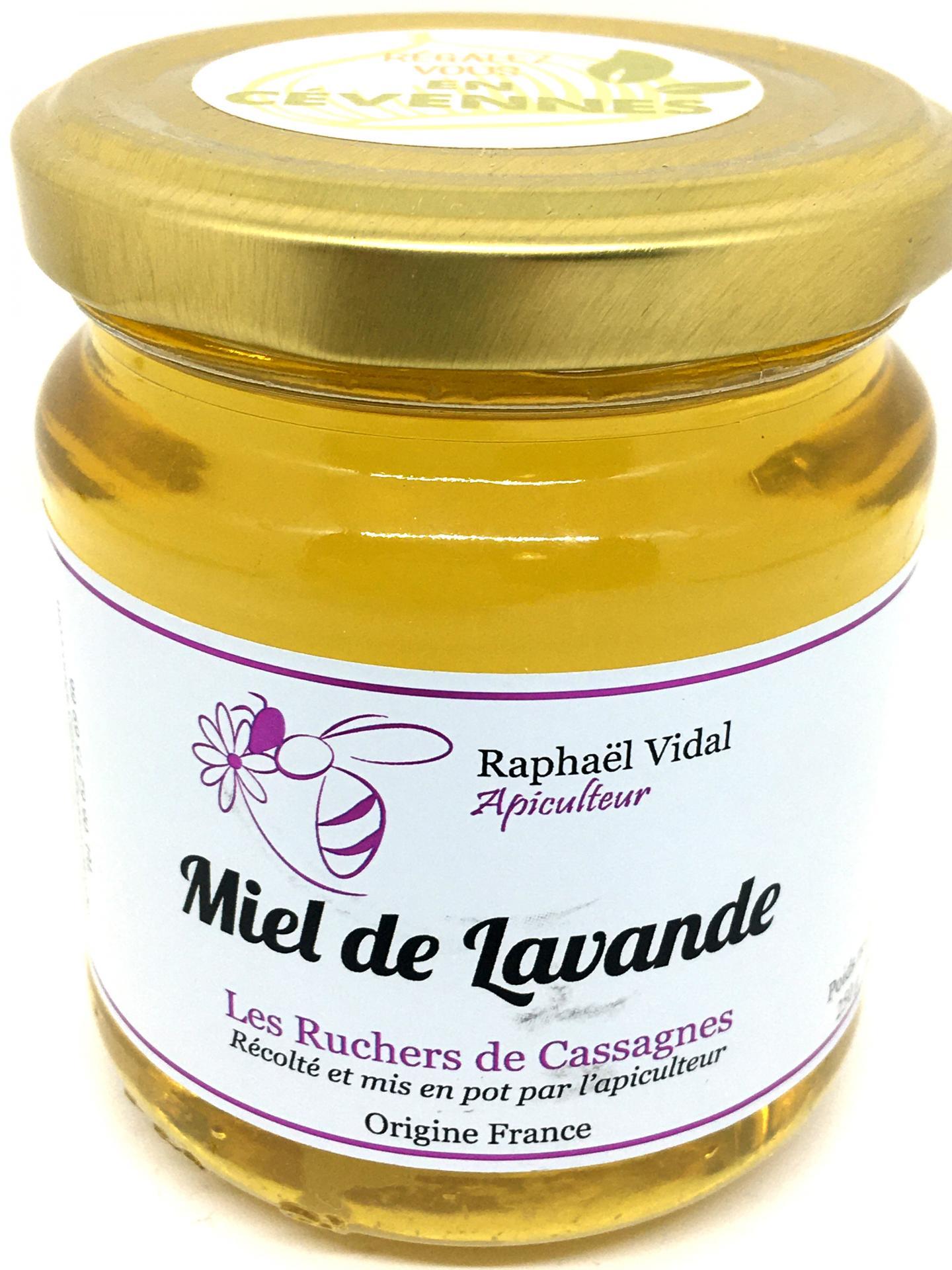 Miel de lavande des cevennes 250g les escargots et ruchers de cassagnes