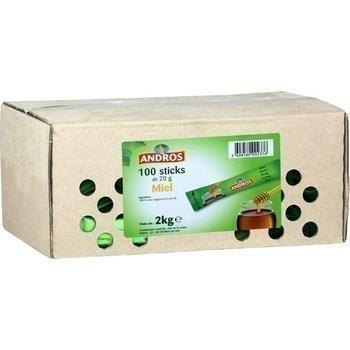 Miel en sticks 100x20 g andros