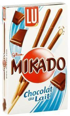 Mikado au chocolat au lait 8 x 75 g pour professionnels