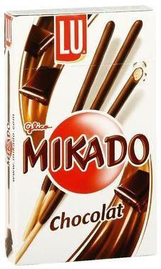 Mikado au chocolat noir 8 x 75 g pour professionnels