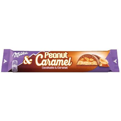 Milka cacahuete caramel 37 g vendu a l unite