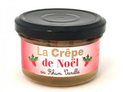 Mini crepes de noel au rhum vanille 110g bocal de 4 1