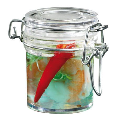 Mini pot en plastique solia 80 ml vendu par 24