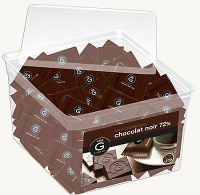 Mini tablettes chocolat noir eclats de cacao 400 g gilbert dosette chocolat individuel