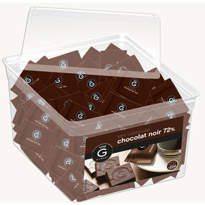 Mini tablettes chocolat noir eclats de cacao 400 g gilbert
