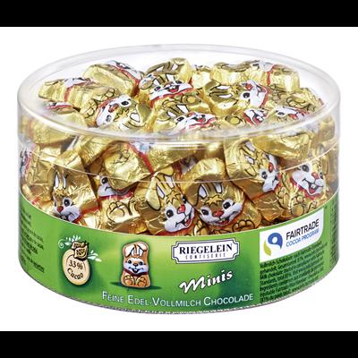 Minis lapins en chocolat 80 pieces 400 g riegelein confiserie