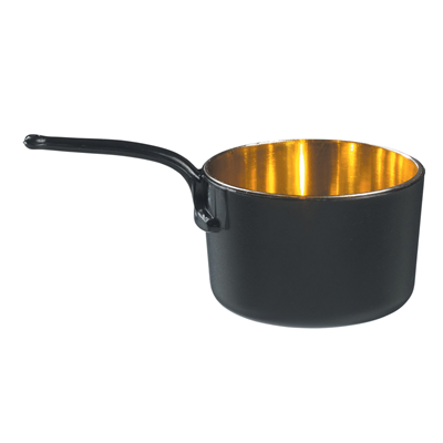 Mise en bouche casserole noir doree 45 ml vendu par 24