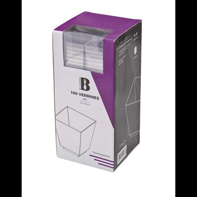 Mise en bouche pot plastique transparent 60 ml x 100