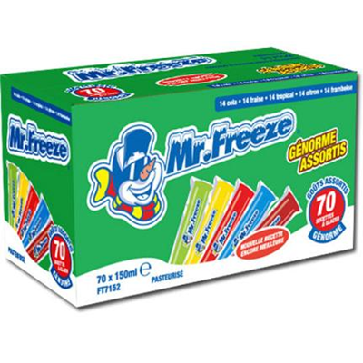 Mister freeze assortiment 70 x 150 ml