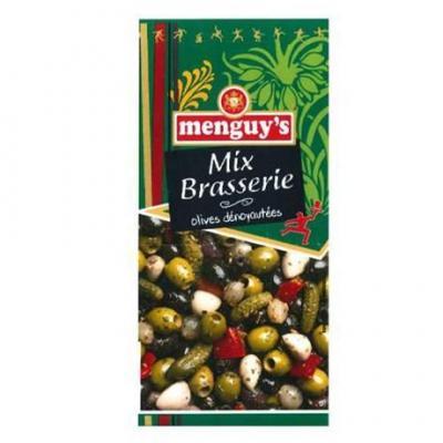 Mix brasserie olives denoyautes 200 g menguy s pour bureau