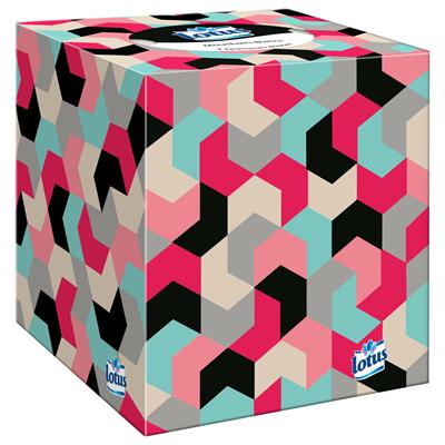 Mouchoir boite cube x 48 lotus