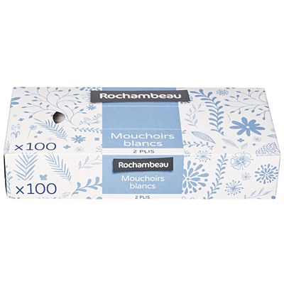 Mouchoir boite x 100 vendu par 4 rochambeau