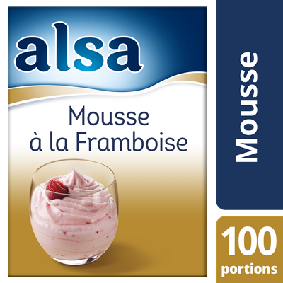 Mousse a la framboise 860 g 100 portions alsa