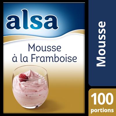 Mousse a la framboise 860 g 100 portions alsa