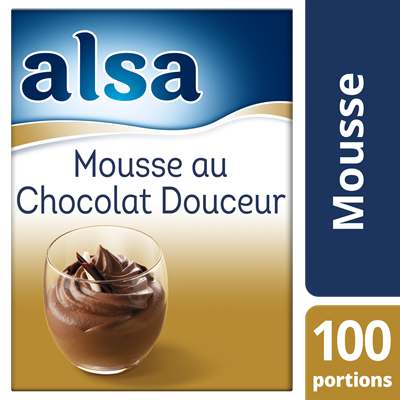 Mousse au chocolat douceur 960 g 100 portions alsa