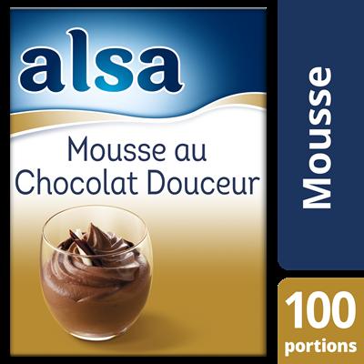 Mousse au chocolat douceur 960 g 100 portions alsa