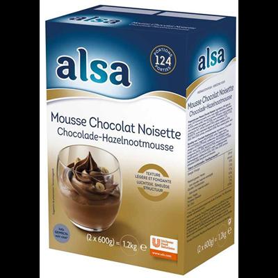 Mousse chocolat noisette 1 2 kg 124 portions alsa