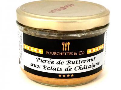 Mousseline de butternut et eclats de chataignes 180g bocal