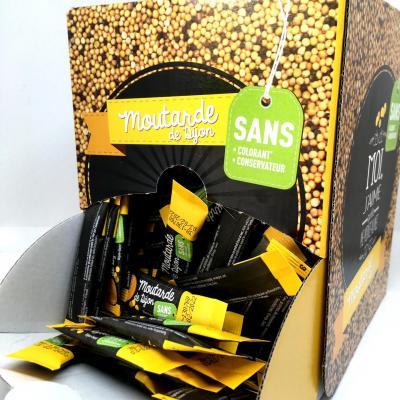 Moutarde 4 g x 250 saveurs et sauces sans colorant sans conservateur boite service