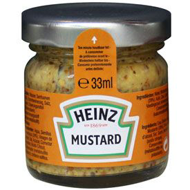 Moutarde 80 x 33 ml heinz 2