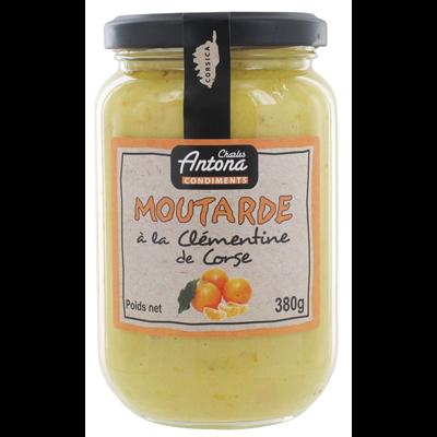 Moutarde a la clementine corse verre 380 g charles antona 1