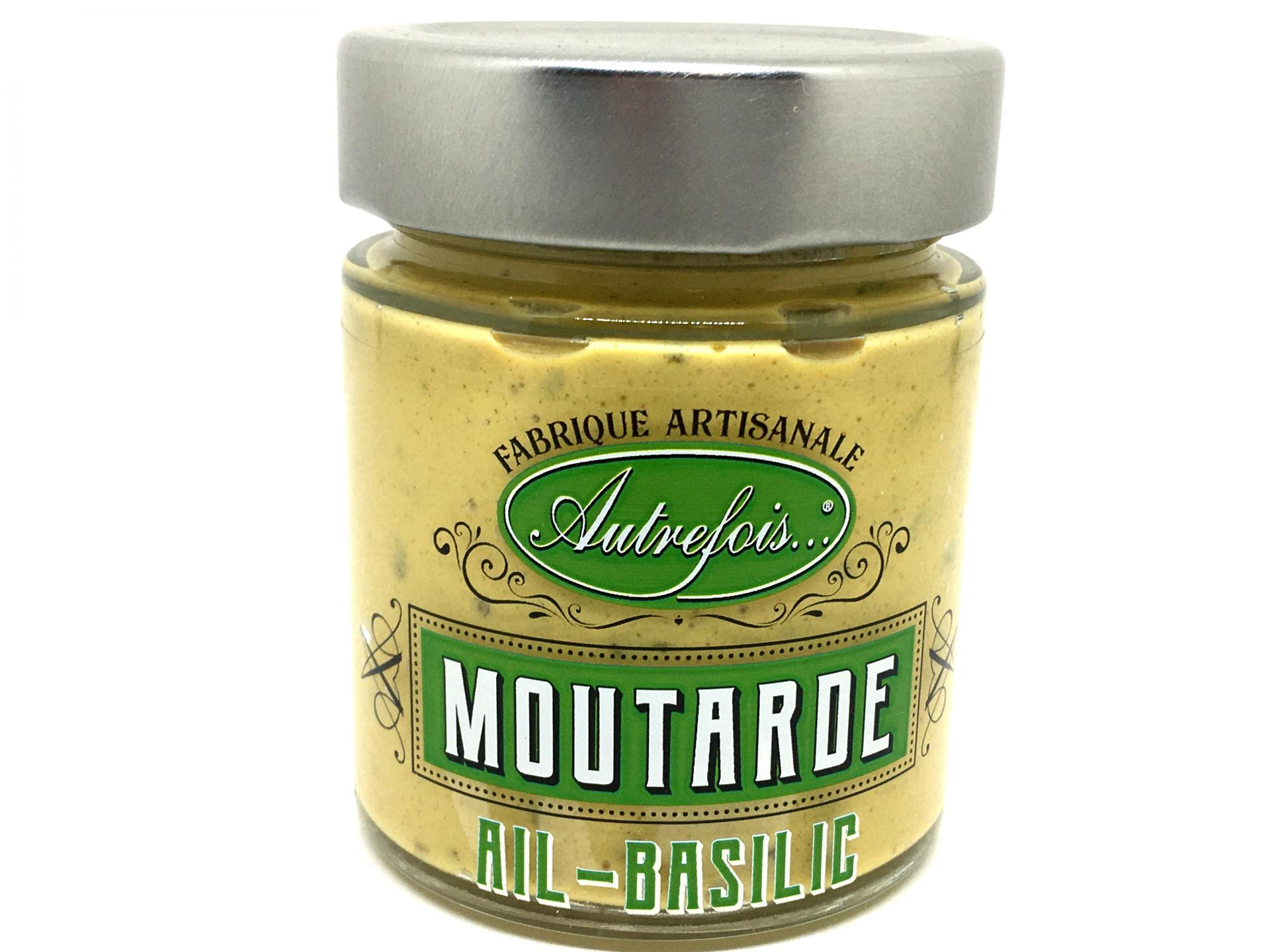 Moutarde ail et basilic de provence 130g autrefois terroir milhaud gard 1