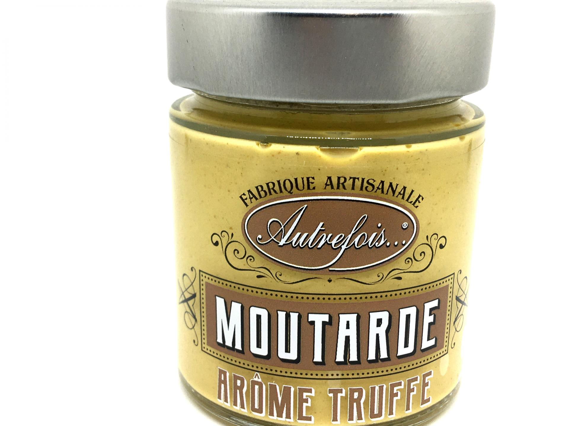 Moutarde aromatisee a la truffe 130g autrefois terroir milhaud gard