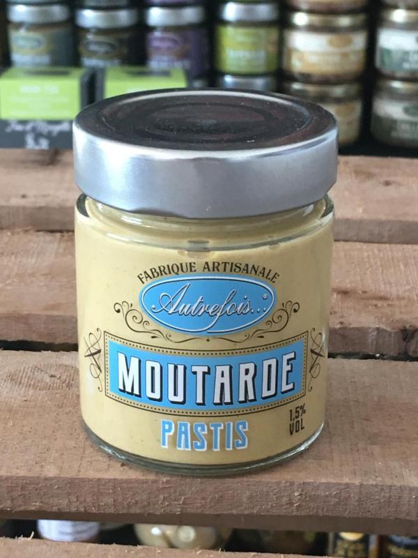 Moutarde au pastis 130g autrefois terroir milhaud gard 1