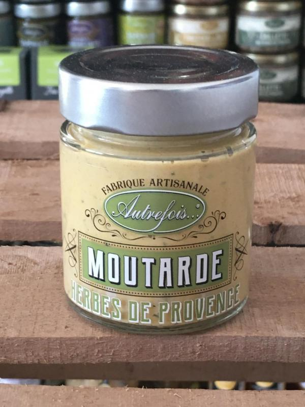 Moutarde aux herbes de provence 130g autrefois terroir milhaud gard 1