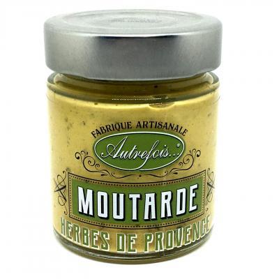 Moutarde aux herbes de provence 130g autrefois terroir milhaud gard