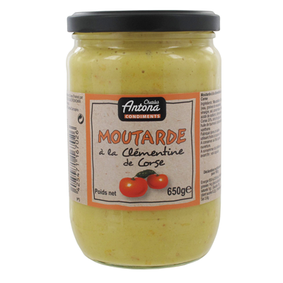 Moutarde corse a la clementine 650 g corsica gastronomia