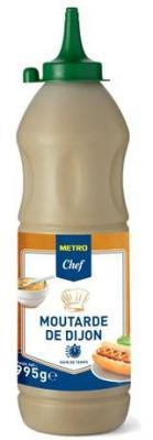 Moutarde de dijon 995 g metro chef pour professionnels