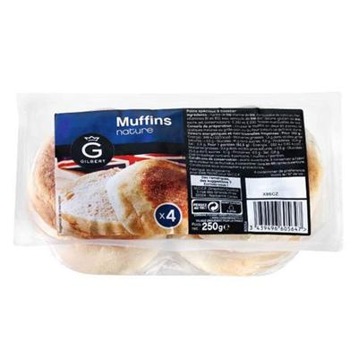 Muffin nature 4 pieces gilbert