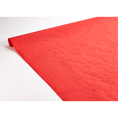 Nappe rouleau damassee rouge 1 18 x 50 m