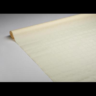 Nappe rouleau damassee vanille 1 18 x 50 m