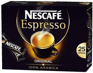 Nescafe espresso 25 sticks de 1 8 g cafe pour bureau
