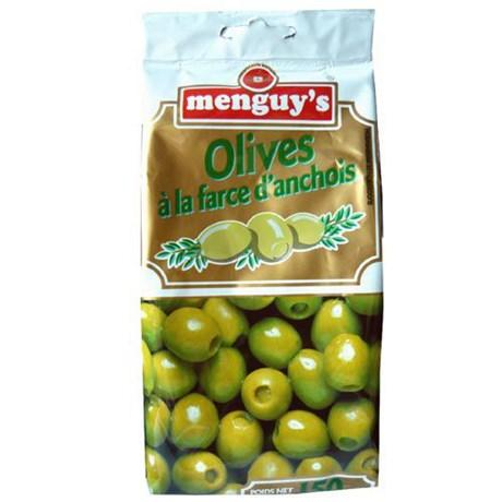 Olives a la farce d anchois 150 g menguy s pour bureau