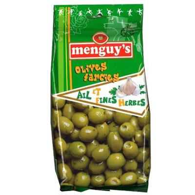 Olives farcies ail et fines herbes 200 g menguy s