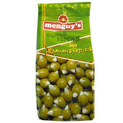 Olives farcies aux amandes entieres 150 g menguy s