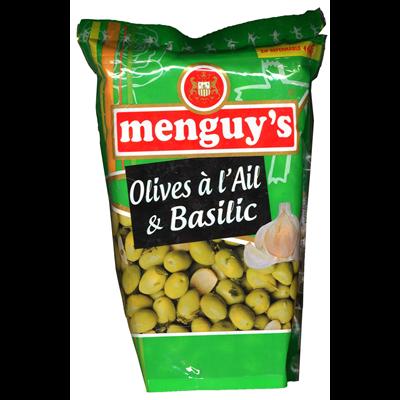 Olives vertes a l ail et basilic 936 g menguy s