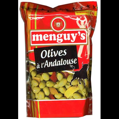 Olives vertes a la sauce andalouse 936 g menguy s