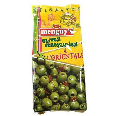 Olives vertes denoyautees a l orientale 200 g menguy s