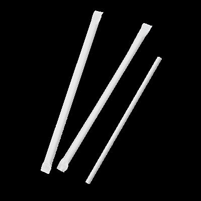 Paille droite emballee individuellement papier blanc 0 6 x 20 cm x 500