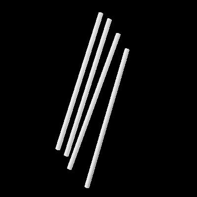 Paille droite papier blanc 0 6 x 20 cm x 500