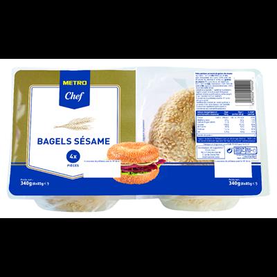 Pain bagel sesame 4 x 85 g metro chef