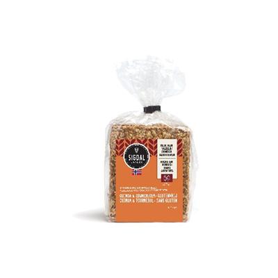Pain craquant quinoa et tournesol sans gluten 190 g sigdal
